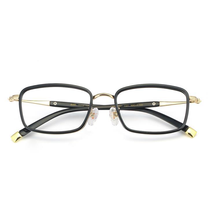 HAN合金PC光学眼镜架-经典亮黑(HN49381-C01)