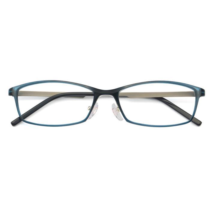 HAN MEGA-TR钛塑不锈钢光学眼镜架-清新蓝绿(HD49204-F15)