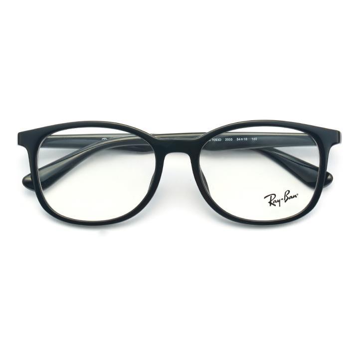 RAY BAN 雷朋 2016新款 光学眼镜架-黑色(0RX7093D 2000 54)