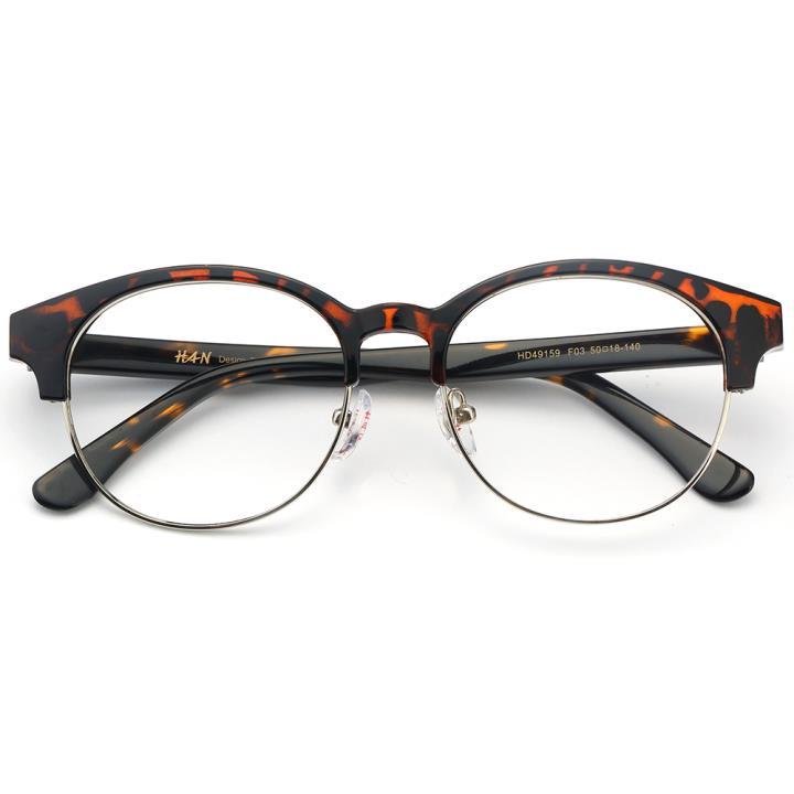 HAN板材金属光学眼镜架-复古玳瑁(HD49159-F03)