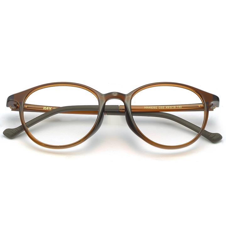 HAN MEGA-TR钛塑光学眼镜架-质感深棕(HN48392-C03)