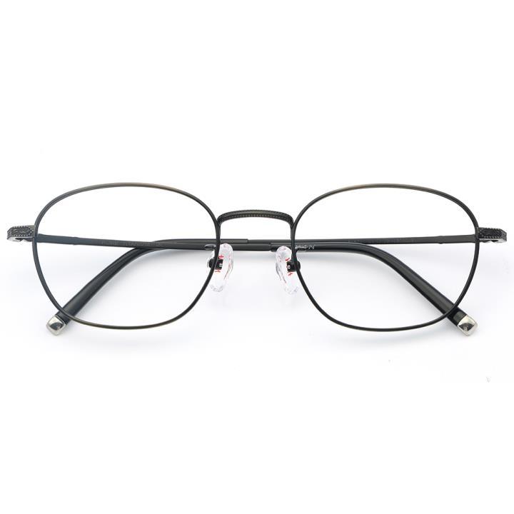 HAN纯钛光学眼镜架-深棕色(J81871-C34)