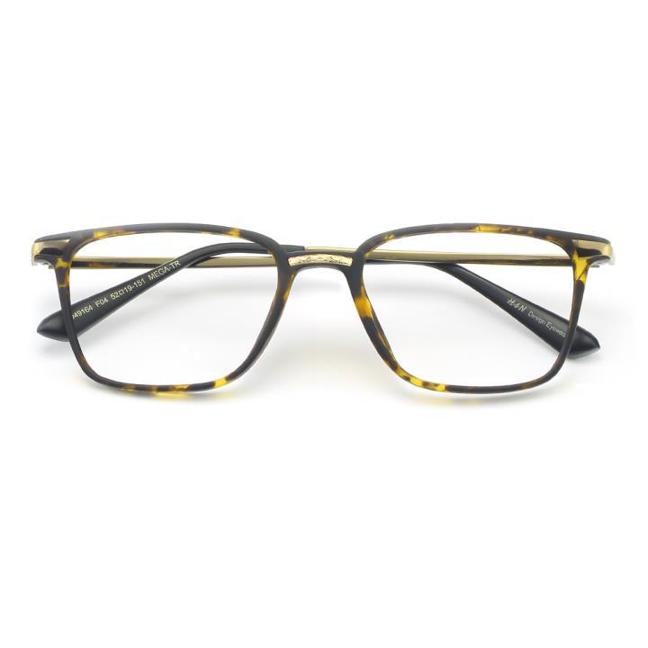 HAN MEGA-TR钛塑光学眼镜架- 哑光玳瑁(HD49164-C4 )