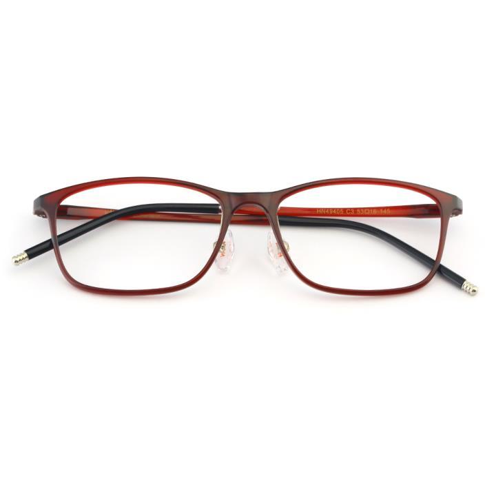 HAN MEGA-TR钛塑光学眼镜架-时尚酒红(HN49405-C3)