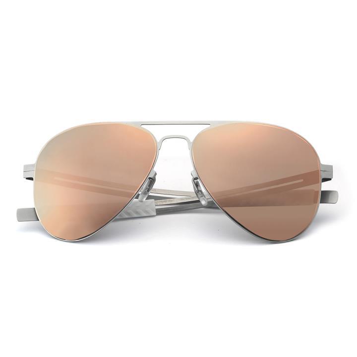 HAN Slimble不锈钢偏光太阳眼镜-银框粉膜片(HN53014M C3)