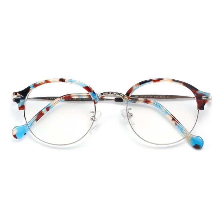 HAN COLLECTION板材金属光学眼镜架-蓝玳瑁(HN41009M C2)