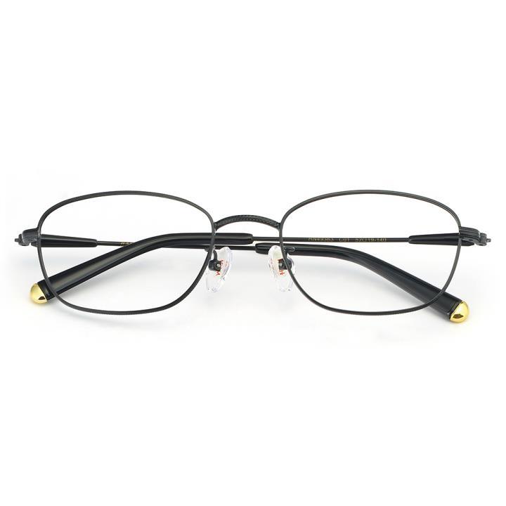 HAN合金光学眼镜架-经典亮黑(HN49363-C01)