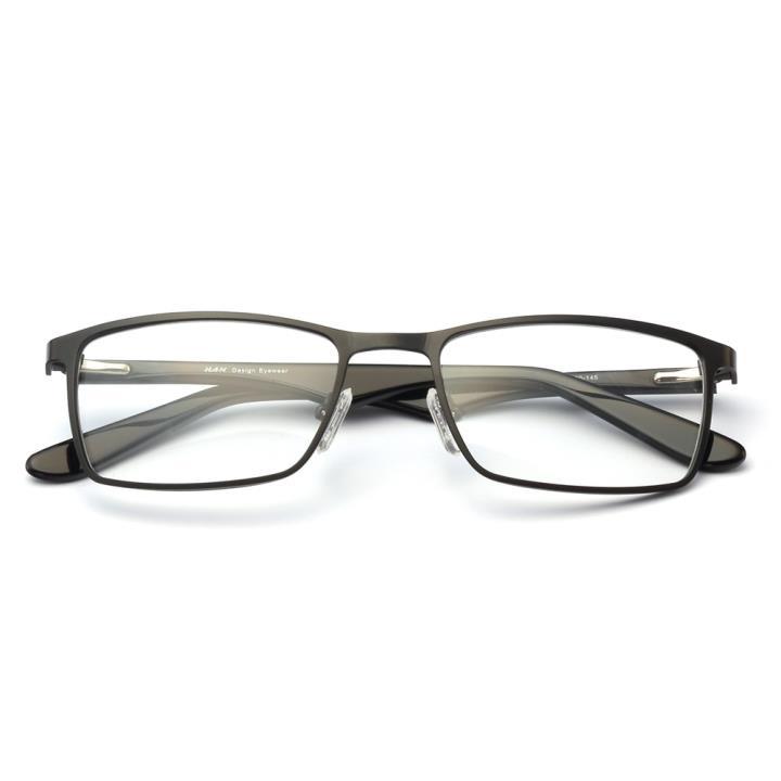 HAN不锈钢光学眼镜架-经典亮黑(HD3511-F01)
