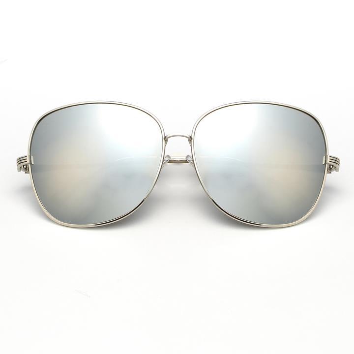 HAN时尚防紫外线太阳镜HD59303-S09 银框银色片