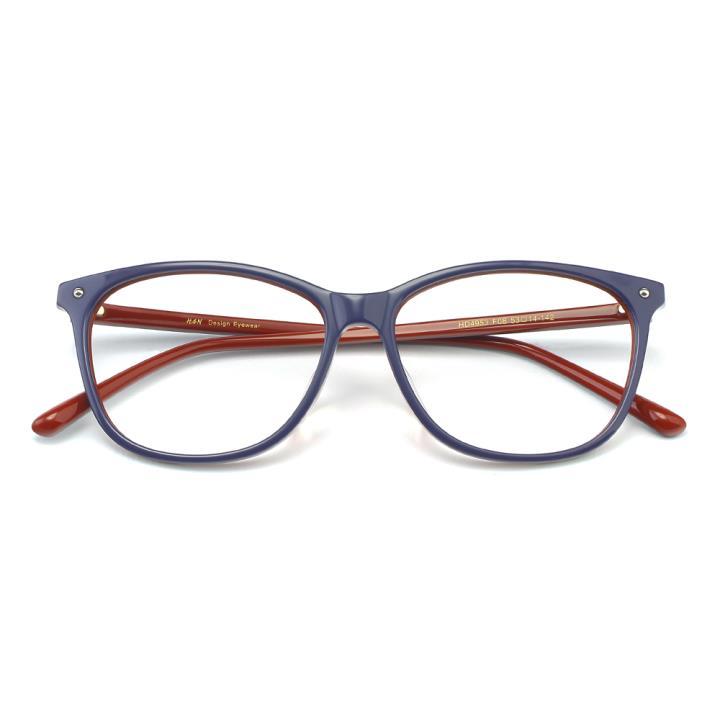 HAN板材时尚光学眼镜架-秀雅紫红(HD4953-F08)