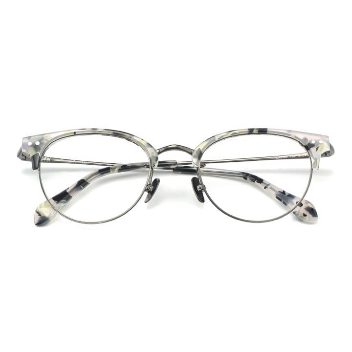 HAN板材金属光学眼镜架-灰玳瑁(HD49306-F03)