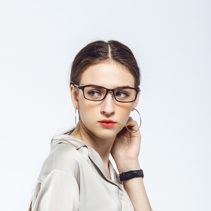 HAN 塑钢时尚光学眼镜架-优雅酒红(HN49411-C3)