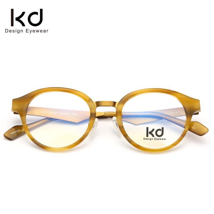 KD设计师手制板材金属眼镜kc7001-C04
