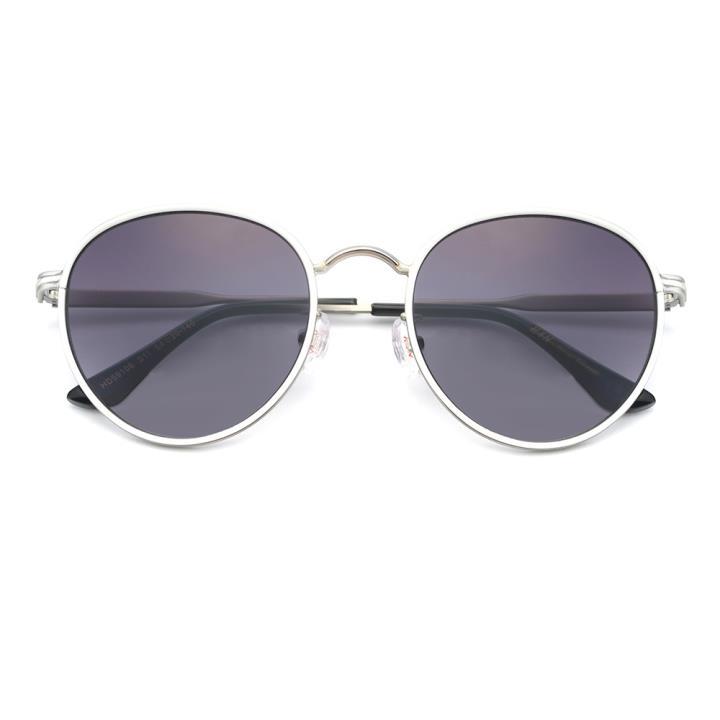 HAN 合金防紫外线太阳镜-白框渐进灰(HD59106-S11)男女通用