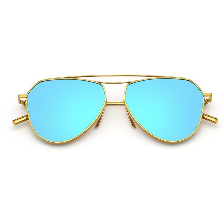 HAN RAZR-X9 炫彩太阳眼镜-金框蓝片(HD59125 S07)