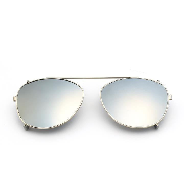 HAN时尚偏光套镜HD5817-S09 银色框银色片