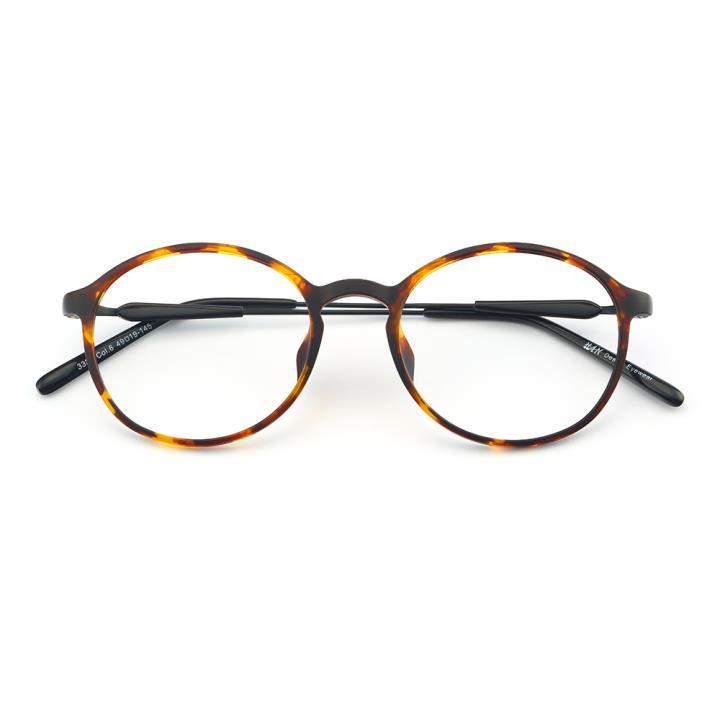 HAN MEGA-TR钛塑光学眼镜架-复古玳瑁(3330-C6)