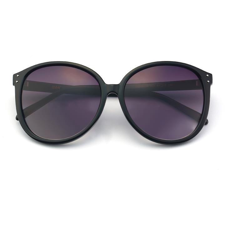 HAN时尚防紫外线太阳镜HD59315-S01 黑框渐近灰片