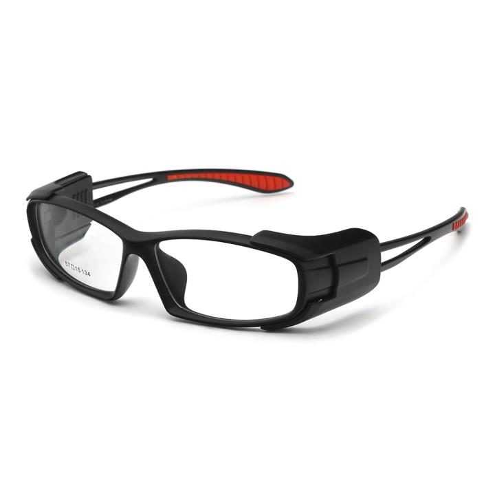HAN MEGA-TR钛塑时尚运动防风镜-哑黑红(HN49328-C1)