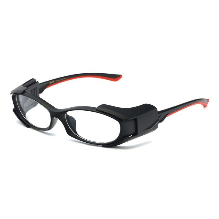 HAN MEGA-TR钛塑运动防风镜-哑黑红(HN49327-C1)