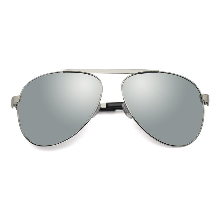 HAN RAZR-X9 白铜不锈钢偏光太阳眼镜-银框水银片(HD59123 C3)