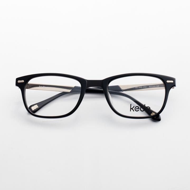Kede时尚光学眼镜架Ke1442-F01  黑色