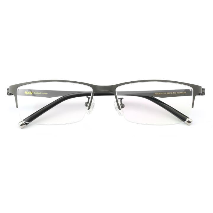 HAN纯钛时尚光学眼镜架HD4866-F12 哑枪