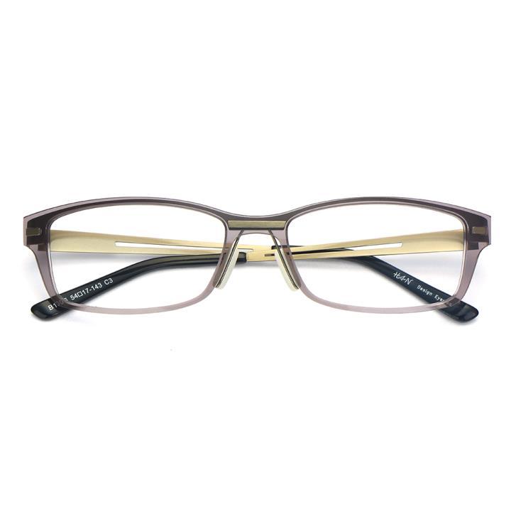 HAN尼龙不锈钢光学眼镜架-低调枪灰(B1006-C3)