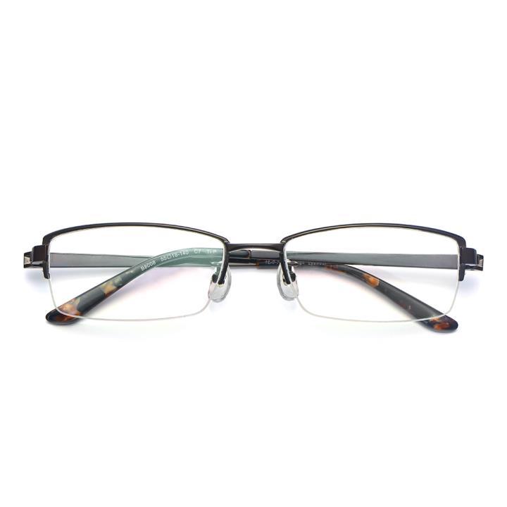 HAN纯钛光学眼镜架-咖色(B8008-C7)