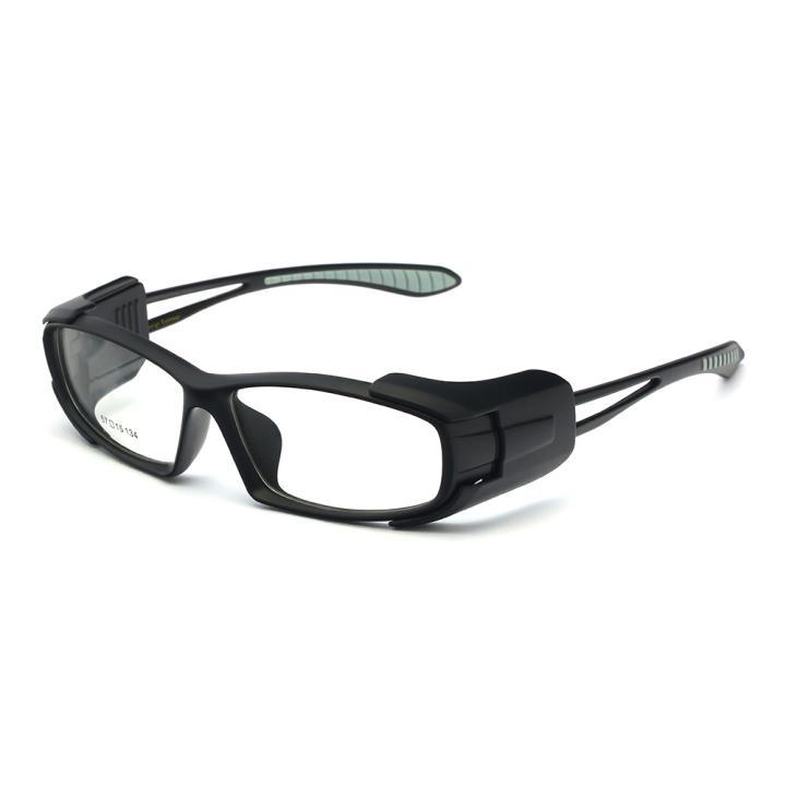 HAN MEGA-TR钛塑时尚运动防风镜-哑黑灰(HN49328-C2)
