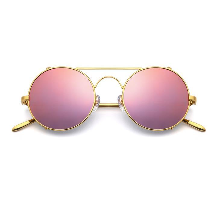 HAN RAZR-X9不锈钢偏光太阳眼镜-金框浅紫片(HN51201 C4)
