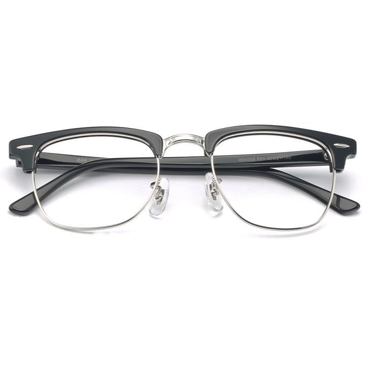 HAN板材不锈钢光学眼镜架-经典纯黑(HD4959-F01)