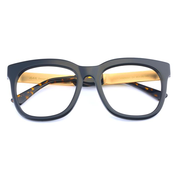 HAN板材太阳眼镜架-亮黑框(HN59351-C4)