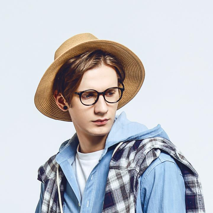 HAN板材时尚光学眼镜架-经典亮黑(HD4954-F01)
