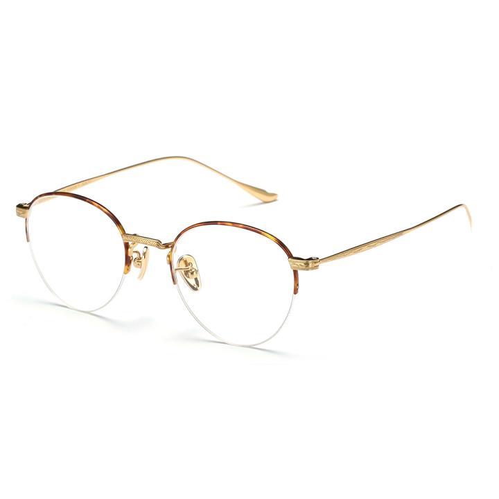HAN TITANIUM纯钛光学眼镜架HN41042M C2玳瑁