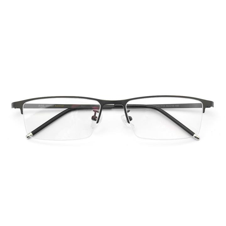 HAN不锈钢光学眼镜架-低调枪灰(HD49319-F12 )