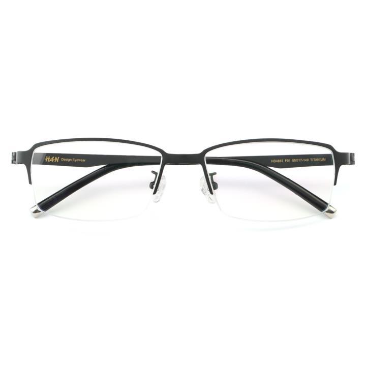 HAN纯钛时尚光学眼镜架HD4867-F01 哑黑