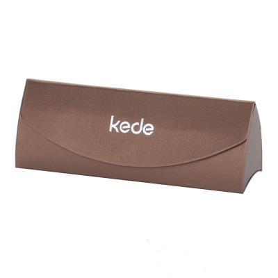 kede亮面三角系列高档手工眼镜盒(颜色随机)