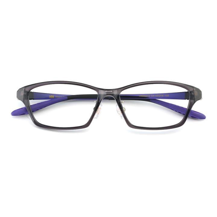 HAN TR光学眼镜架-灰色(HN49413-C4)(配渐进灰偏光镜套)