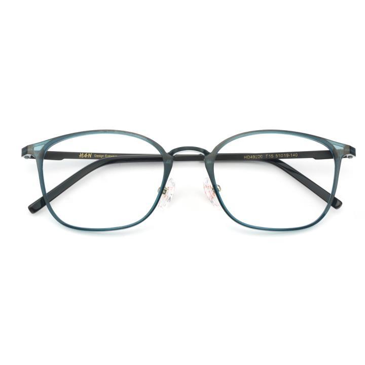 HAN MEGA-TR钛塑不锈钢光学眼镜架-清新蓝绿(HD49200-F15)