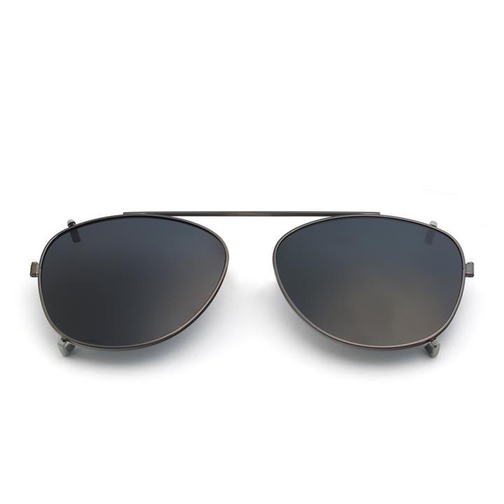 HAN时尚偏光套镜HD5817-S01 亮枪框黑灰片