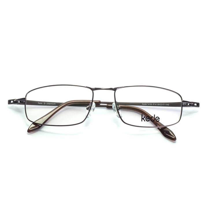 Kede时尚光学眼镜架Ke1418-F14  铜色