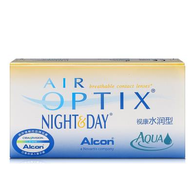 爱尔康视康水润日夜型硅水凝胶月抛隐形眼镜3片装(新老包装随机发)