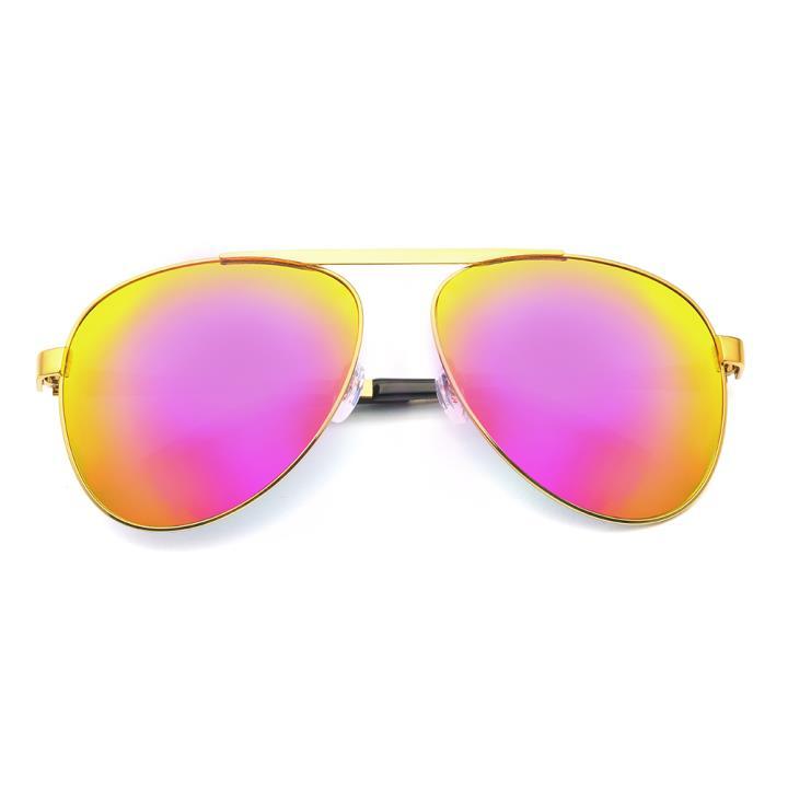 HAN RAZR-X9 白铜不锈钢偏光太阳眼镜-金框枚红片(HD59123 C1)