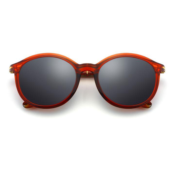 HAN时尚偏光太阳镜-红框黑灰片(HD5837-S06)