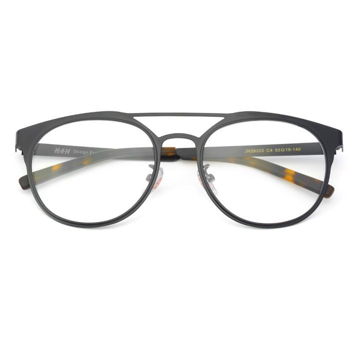 HAN SUNGLASSES不锈钢太阳眼镜架-黑色(JK59320-C4)可配近视镜片