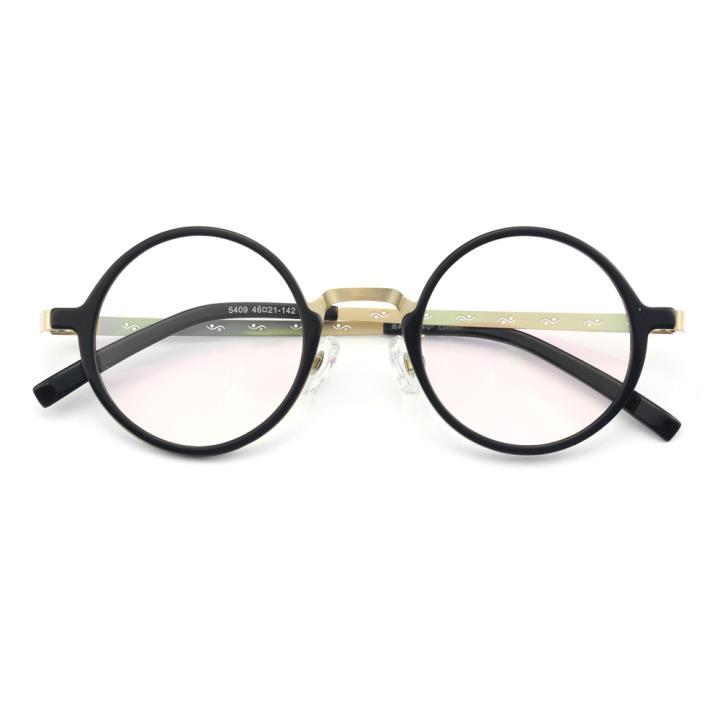 HAN纯钛板材光学眼镜架-黑金色(5409-C3)