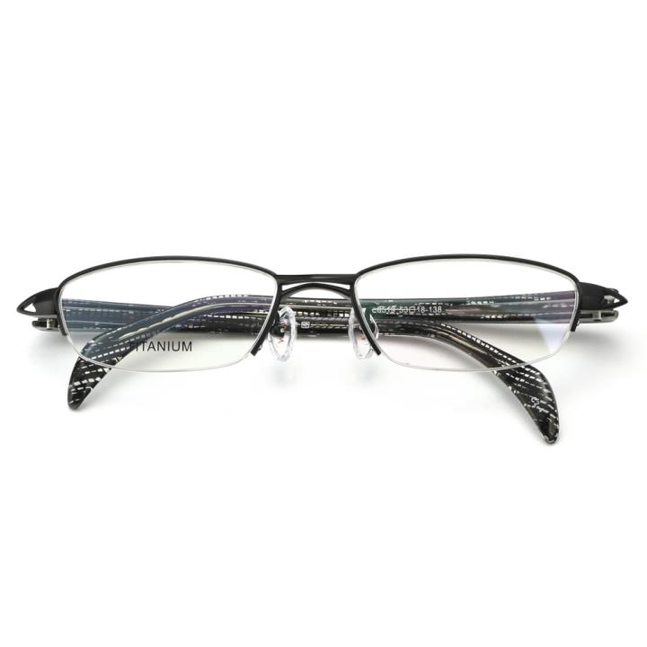 HAN纯钛光学眼镜架-经典纯黑(E8519-C2-4)