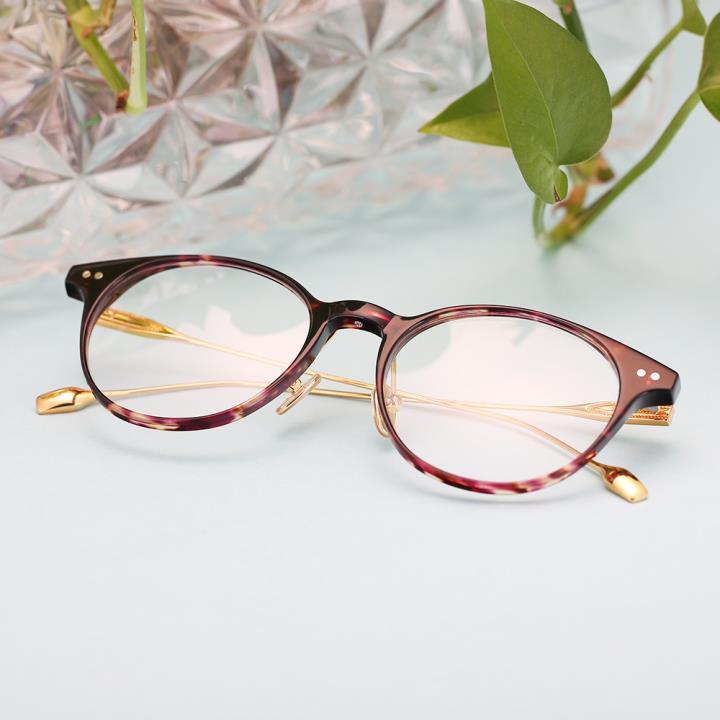 HAN COLLECTION 板材光学眼镜架-紫红(HN41011M C4)