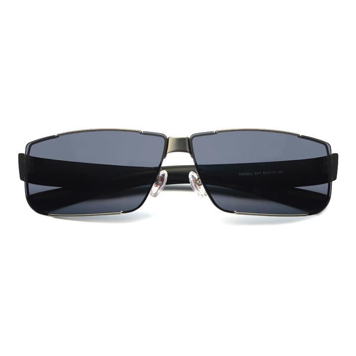 HAN不锈钢防紫外线太阳镜-枪框黑灰片(HD5902-S01)(送夜视片)